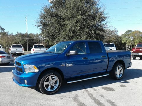 Blue Streak Pearl Ram 1500 Express Crew Cab 4x4.  Click to enlarge.