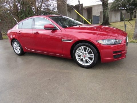 Italian Racing Red Jaguar XE 25t Premium.  Click to enlarge.