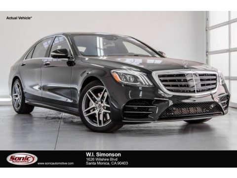 Black Mercedes-Benz S 560 4Matic Sedan.  Click to enlarge.