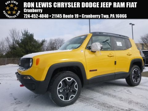 Solar Yellow Jeep Renegade Trailhawk 4x4.  Click to enlarge.