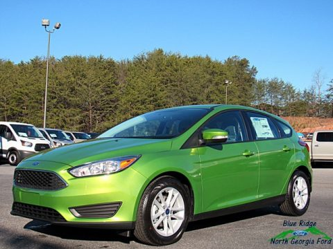 Outrageous Green Ford Focus SE Hatch.  Click to enlarge.