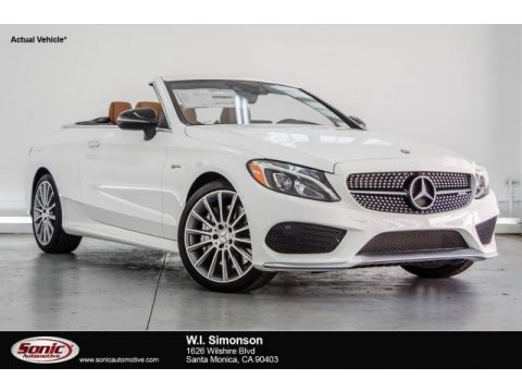 Polar White Mercedes-Benz C 43 AMG 4Matic Cabriolet.  Click to enlarge.