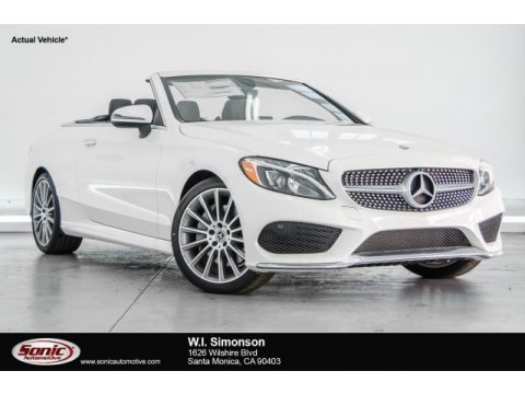 designo Diamond White Metallic Mercedes-Benz C 300 Cabriolet.  Click to enlarge.
