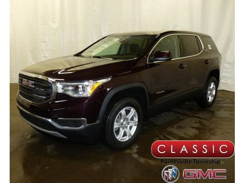 Black Cherry Metallic GMC Acadia SLE AWD.  Click to enlarge.