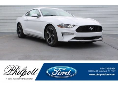 Oxford White Ford Mustang EcoBoost Fastback.  Click to enlarge.
