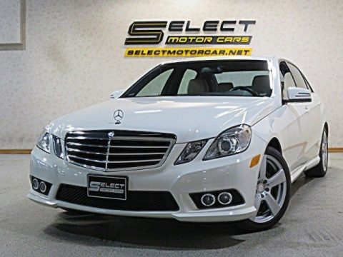 Arctic White Mercedes-Benz E 350 4Matic Sedan.  Click to enlarge.