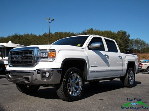 White Diamond Tricoat GMC Sierra 1500 SLT Crew Cab 4x4.  Click to enlarge.