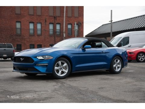 Lightning Blue Ford Mustang EcoBoost Convertible.  Click to enlarge.