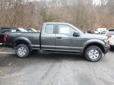 Stone Gray Ford F150 XL SuperCab 4x4.  Click to enlarge.