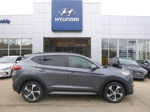 Coliseum Gray Hyundai Tucson Limited AWD.  Click to enlarge.
