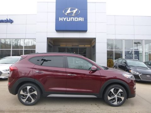 Ruby Wine Hyundai Tucson Limited AWD.  Click to enlarge.
