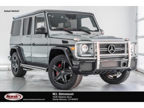 Palladium Silver Metallic Mercedes-Benz G 63 AMG.  Click to enlarge.