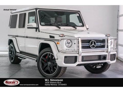 designo Manufaktur Mystic White Mercedes-Benz G 63 AMG.  Click to enlarge.