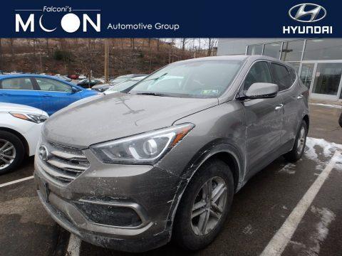 Gray Hyundai Santa Fe Sport AWD.  Click to enlarge.