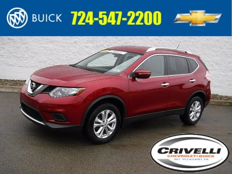 Cayenne Red Nissan Rogue SV AWD.  Click to enlarge.