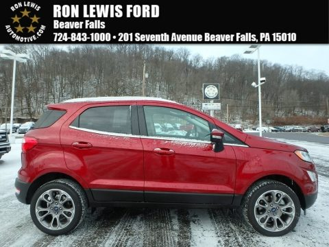 Ruby Red Ford EcoSport Titanium 4WD.  Click to enlarge.