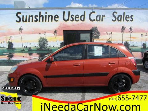 Sunset Orange Kia Rio Rio5 SX Hatchback.  Click to enlarge.