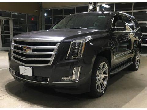 Dark Granite Metallic Cadillac Escalade Premium Luxury 4WD.  Click to enlarge.