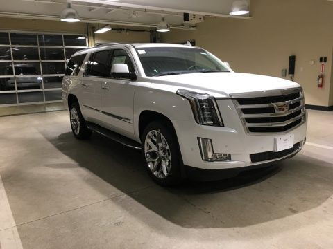 Crystal White Tricoat Cadillac Escalade ESV Luxury 4WD.  Click to enlarge.