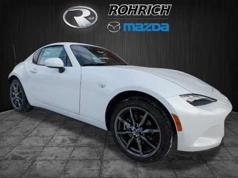 Arctic White Mazda MX-5 Miata RF Grand Touring.  Click to enlarge.