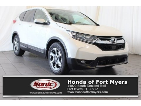 White Diamond Pearl Honda CR-V EX.  Click to enlarge.
