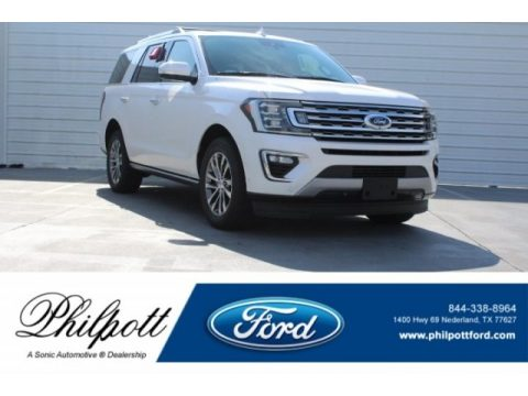 White Platinum Ford Expedition Limited.  Click to enlarge.