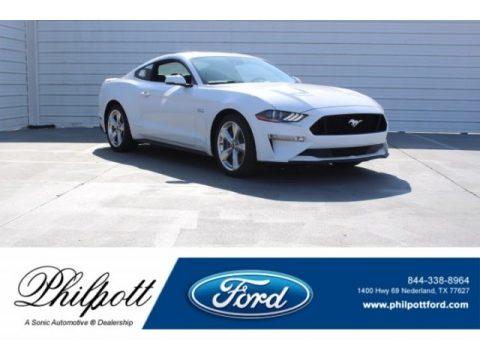 Oxford White Ford Mustang GT Premium Fastback.  Click to enlarge.