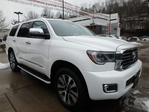 Blizzard White Pearl Toyota Sequoia Limited 4x4.  Click to enlarge.