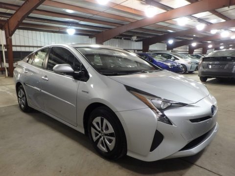 Classic Silver Metallic Toyota Prius Four.  Click to enlarge.