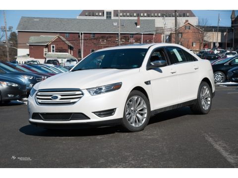 White Platinum Ford Taurus Limited AWD.  Click to enlarge.