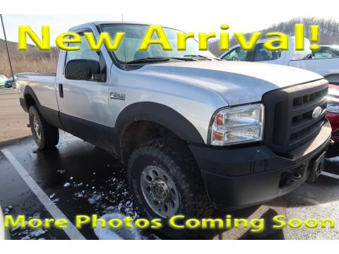 Silver Metallic Ford F250 Super Duty XL Regular Cab 4x4.  Click to enlarge.