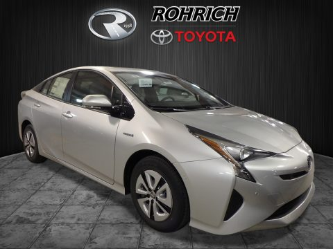 Classic Silver Metallic Toyota Prius Three.  Click to enlarge.