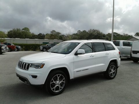 Bright White Jeep Grand Cherokee Sterling Edition.  Click to enlarge.