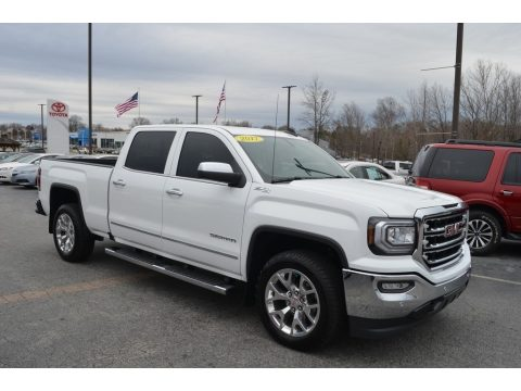 White Frost Tricoat GMC Sierra 1500 SLT Crew Cab 4WD.  Click to enlarge.