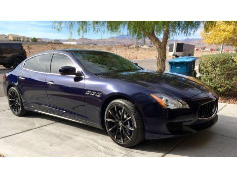 Blu Passione (Passion Blue) Maserati Quattroporte GTS.  Click to enlarge.