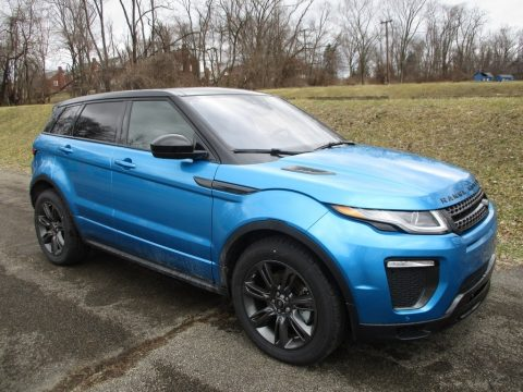 Moraine Blue Metallic Land Rover Range Rover Evoque Landmark Edition.  Click to enlarge.