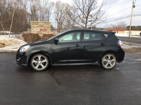 Jet Black Metallic Pontiac Vibe GT.  Click to enlarge.
