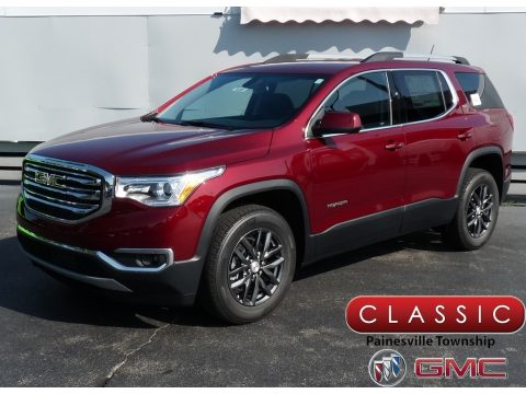 Crimson Red Tintcoat GMC Acadia SLT AWD.  Click to enlarge.