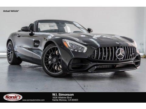 Black Mercedes-Benz AMG GT Roadster.  Click to enlarge.