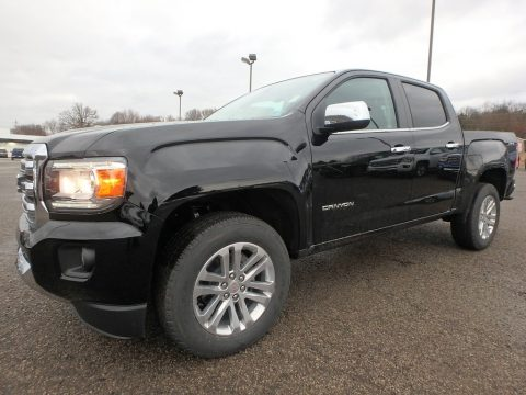 Onyx Black GMC Canyon SLT Crew Cab 4x4.  Click to enlarge.