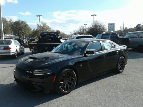 Pitch Black Dodge Charger SRT Hellcat.  Click to enlarge.
