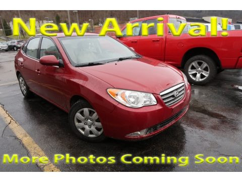 Apple Red Pearl Hyundai Elantra GLS Sedan.  Click to enlarge.