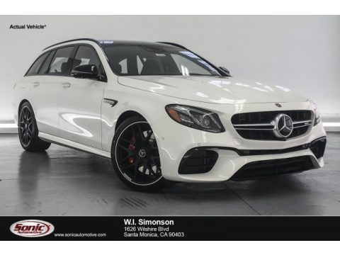 designo Diamond White Metallic Mercedes-Benz E AMG 63 S 4Matic Wagon.  Click to enlarge.