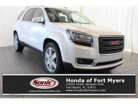 White Frost Tricoat GMC Acadia Limited FWD.  Click to enlarge.