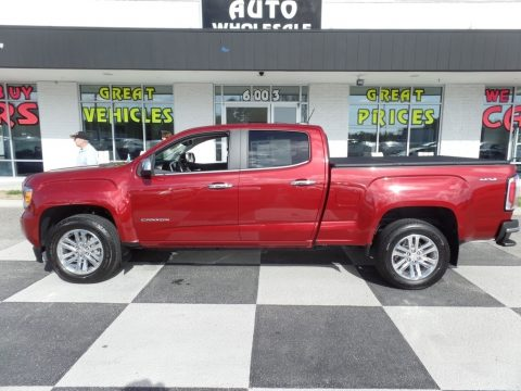Cardinal Red GMC Canyon SLT Crew Cab 4x4.  Click to enlarge.