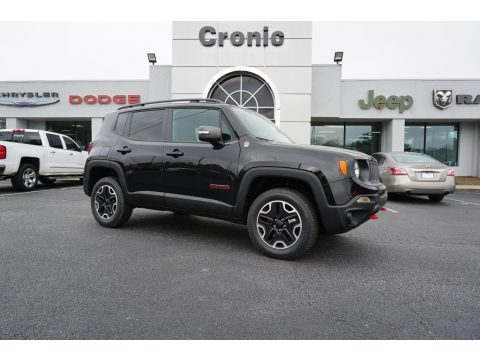 Black Jeep Renegade Trailhawk 4x4.  Click to enlarge.