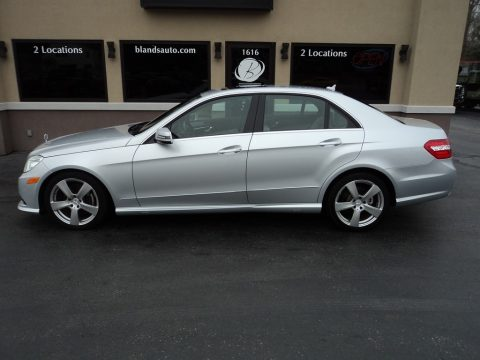 Iridium Silver Metallic Mercedes-Benz E 350 4Matic Sedan.  Click to enlarge.