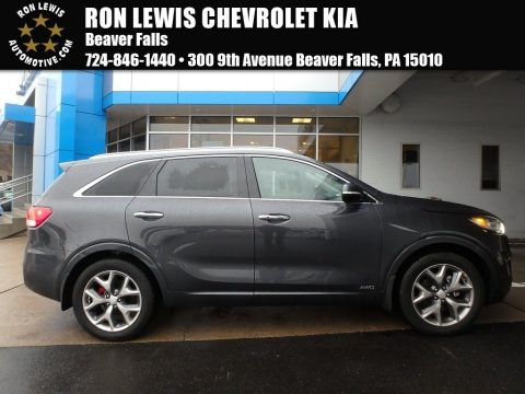 Platinum Graphite Kia Sorento SX AWD.  Click to enlarge.