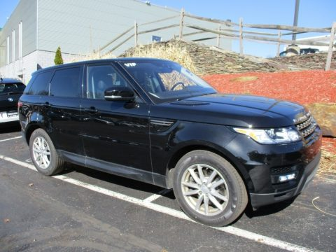 Santorini Black Land Rover Range Rover Sport SE.  Click to enlarge.