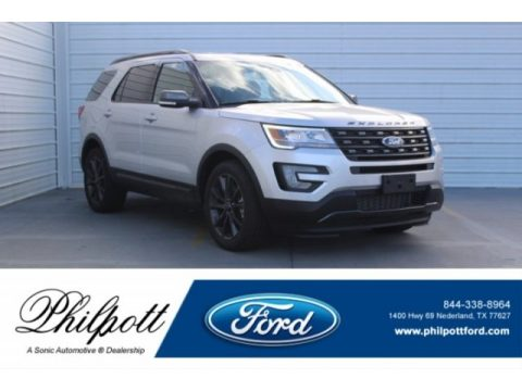 Ingot Silver Ford Explorer XLT.  Click to enlarge.